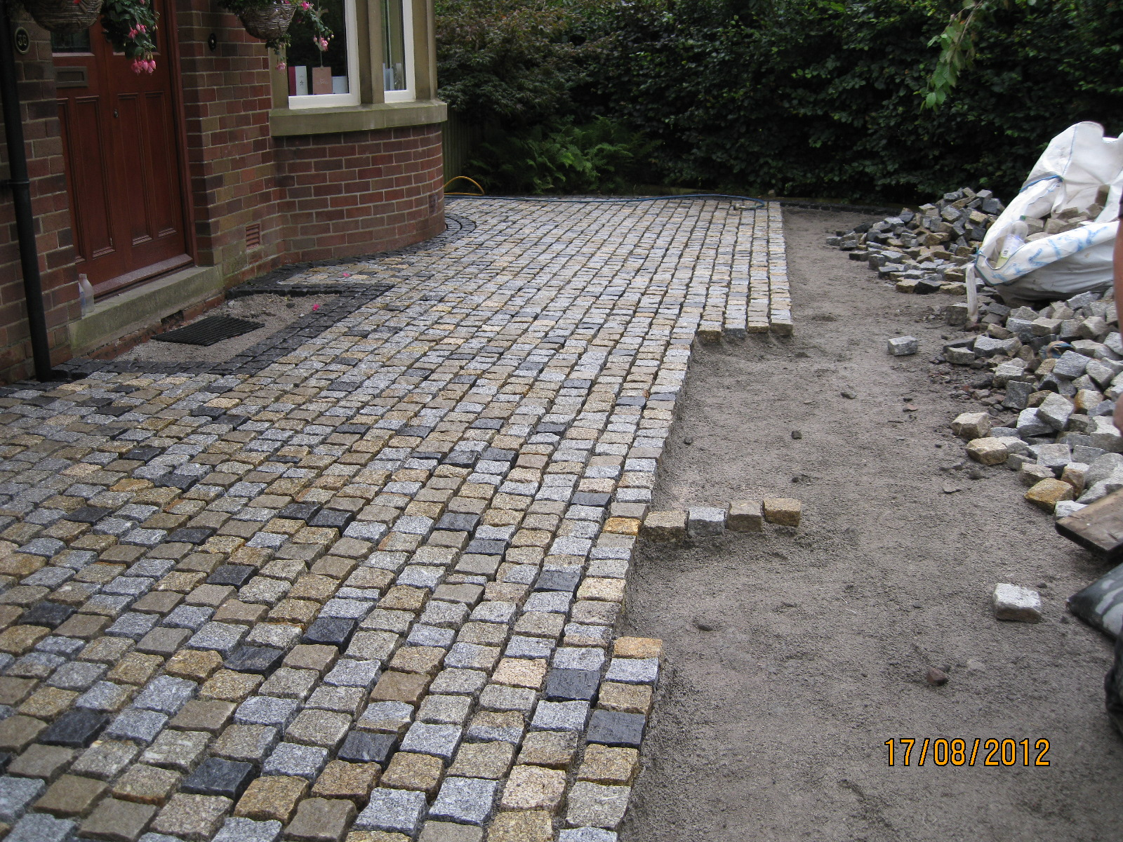 Mixed Coloured Granite Setts Whalley Lancashire