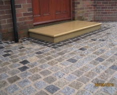 UNIQUE COBBLE DRIVEWAYS MIXED COLOURS GRANITE SETT DRIVEWAY