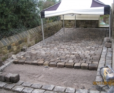 SMALL RECLAIMED COBBLE DRIVEWAY LANCASHIRE (5)