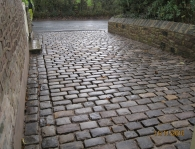SMALL RECLAIMED COBBLE DRIVEWAY LANCASHIRE